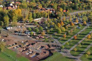 Die Bauarbeiten der beiden Achterbahn Neuheiten 2020, sind bereits voll im Gang. © Erlebnispark Tripsdrill