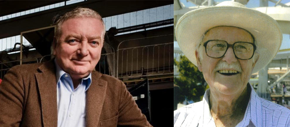 Links: Alberto Zamperla Rechts: Frederik Langford © IAAPA