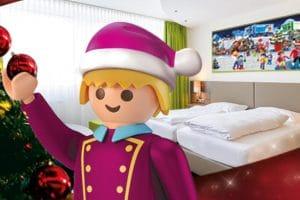 Vom 30. November 2019 bis zum 6. Januar 2020 kann man mit dem Winterpaket im PLAYMOBIL-Hotel ganz entspannt ins FunPark-Abenteuer starten. © Playmobil FunPark