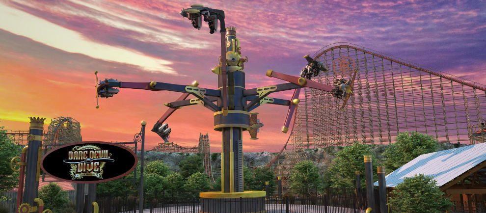 "So wird ""Dare Devil Dive Flying Machines"" fertig aussehen © Six Flags Fiesta Texas"
