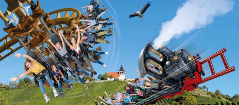 """""""Hals-über-Kopf"""" und """"Volldampf"""" kommen 2020 nach Tripsdrill © Erlebnispark Tripsdrill"""