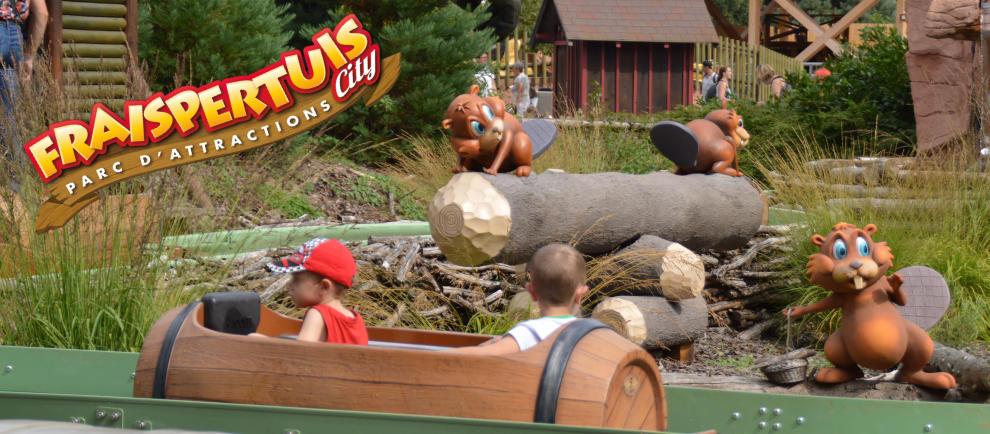 """""""La Rivière Castor"""" die beliebte Kinderwasserbahn im Freizeitpark © Fraispertuis City"""