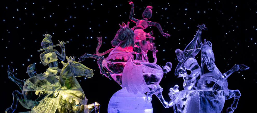 Chinesische Eiskunst in Elstal © Karls Erlebnis-Dorf