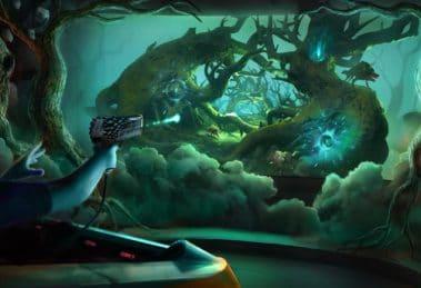 """In eine fantasievolle Welt begeben sich die Besucher in """"Dragon's Spell"""" © Triotech"""