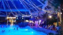 Besonders am Abend verwandelt sich Aqualibi in einen besonderen Ort © Walibi Belgium