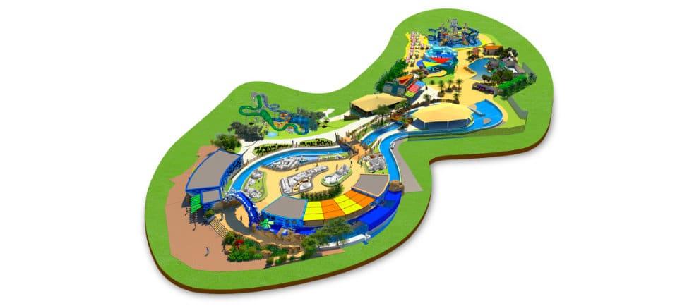 Ein Überblick über den Legoland Water Park im Gardaland Resort © Gardaland