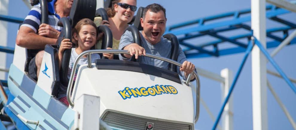 """Der """"Apollo Coaster"""" gehört zu den beliebtesten Achterbahnen im Freizeitpark © Kingoland"""