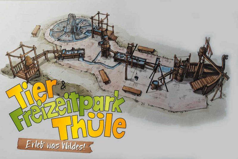 """Hier ein Blick auf die """"Njordland"""" Erweiterung © Tier- und Freizeitpark Thüle"""