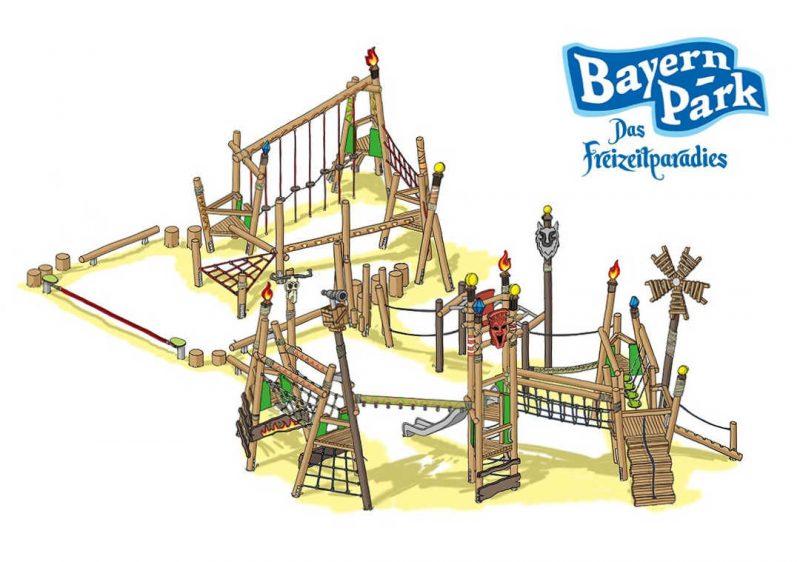 """So soll der Spielplatz """"Wilde Horde"""" fertig aussehen © Bayern Park"""