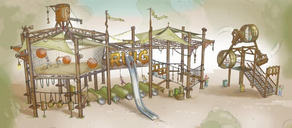 So wird der Abenteuerspielplatz im Billy Bird Park fertig aussehen © Billy Bird Park Hemelrijk