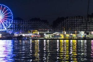 In den Abendstunden versprühte der Park eine tolle Atmosphäre. © Indiana Beach Boardwalk Resort