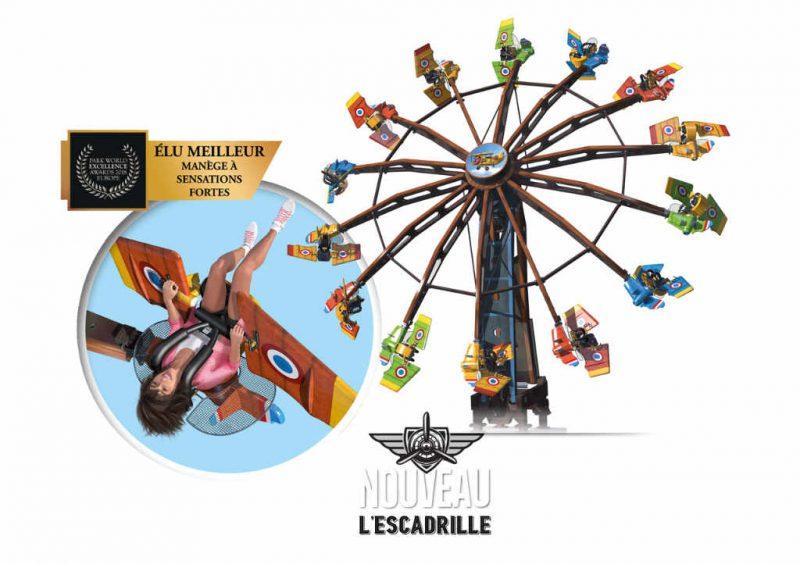 """""""L'Escadrille"""": So wird die Neuheit 2020 im Park aussehen. © Park Ange Michel"""