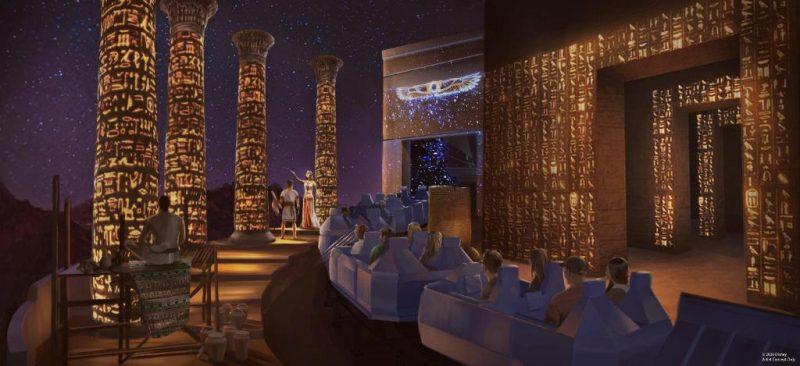 """Ein Blick in den ägyptischen Teil der Fahrt von """"Spaceship Earth"""" © Disney"""