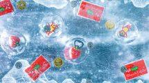 Eisblock mit eingefrorenen Gewinnen © Karls Erlebnis-Dorf