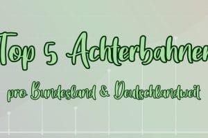 Finde mit uns heraus, wo die Top 5 Achterbahnen in Deutschland stehen.