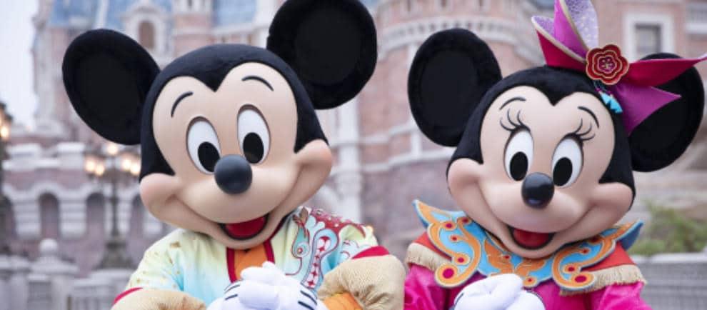 Mickey und Minnie freuen sich auf die Besucher von Shanghai Disneyland © Disney