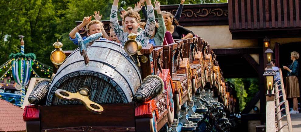 Die Achterbahn Max & Moritz wurde speziell für Familien mit Kindern zwischen 4 und 10 Jahren entwickelt. © Efteling