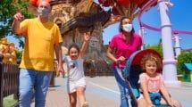 Gardaland Saisonstart 2020: Auch mit Maske ganz viel Spaß im Gardaland © Gardaland