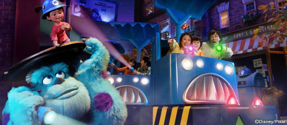 """Monsters Inc. Ride and go Seek"" in Tokyo Disneyland © Disney / Pixar"