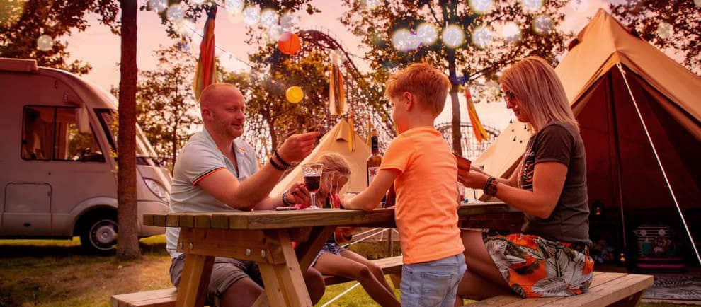 Es ist in diesem Sommer zum ersten Mal möglich, um im Freizeitpark Toverland zu übernachten. © Toverland