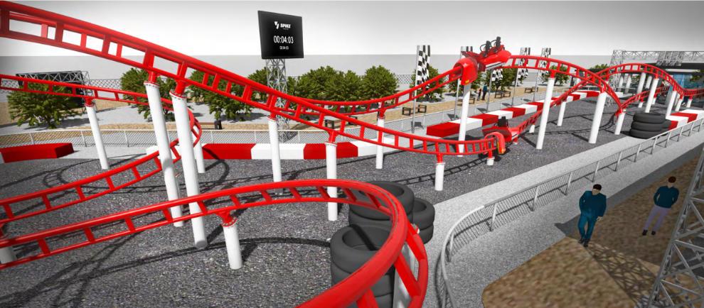 """""""Spike Race Track"""" © Maurer Rides"""