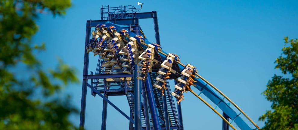 """Great White Roller Coaster"" © SeaWorld San Antonio"