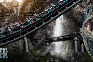 """Die Raptorenjagd auf dem """"Jurassic World Velocicoaster"""" beginnt bald! © Universal Studios Orlando"""