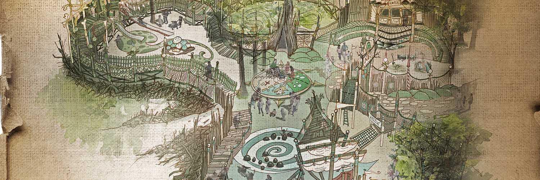 """Ein Blick auf den neuen Spielplatz """"Nest!"""" © Efteling"""