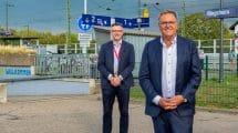Auch vor Ort machten sich die Herren einen Eindruck vom zukünftigen Fernverkehrshalt Ringsheim/Europa-Park © Europa-Park Resort