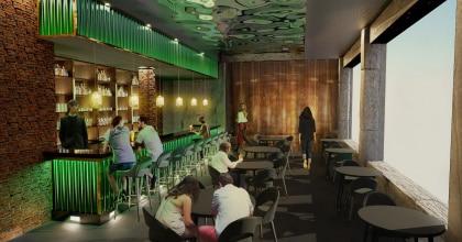 Die neue Bar in dem Saunabereich in Rulantica