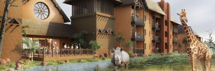 """Das Hotel bietet einen tollen Ausblick auf die """"Savanne"""" des Tierparks © Le Pal"""
