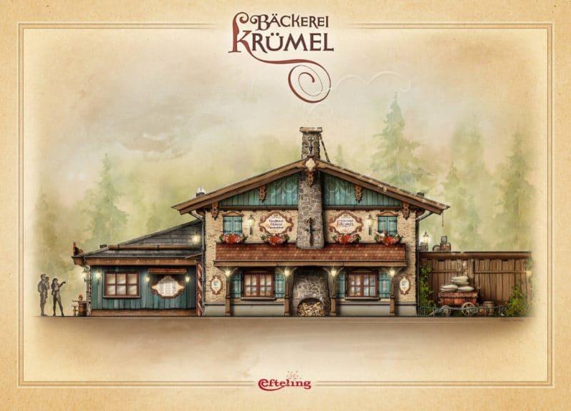 So wird die Bäckerei Krümmel bald im Efteling aussehen © Efteling