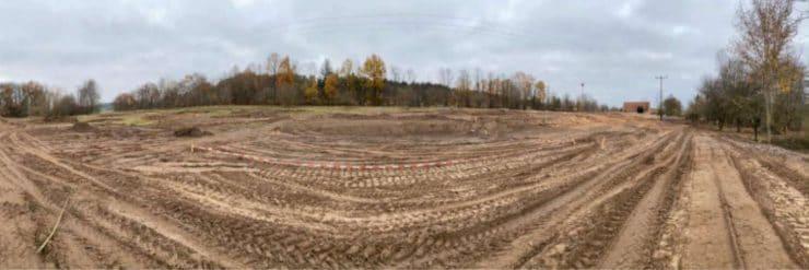 Die Bauarbeiten für den Ferienpark haben bereits begonnen. © Freizeit-Land Geiselwind