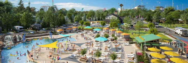 """""""Camp Cedar"""" bietet neben erstklassigen Übernachtungsmöglichkeiten, auch diverse Unterhaltungsangebote. © Kings Island"""
