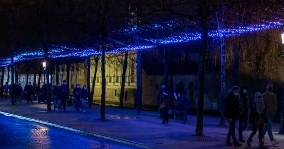 Eine der wundervollen Lichtinstallationen während WinterGlow in Brügge © Painting with Light